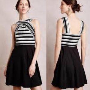 Maeve crosswire flare dress
